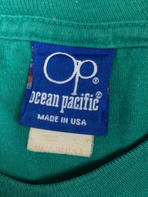 OCEAN PACIFIC T Shirt Vintage 80s Surf Check Gabba Vintage 5 scaled - OCEAN PACIFIC T-Shirt Vintage 80s Surf Check