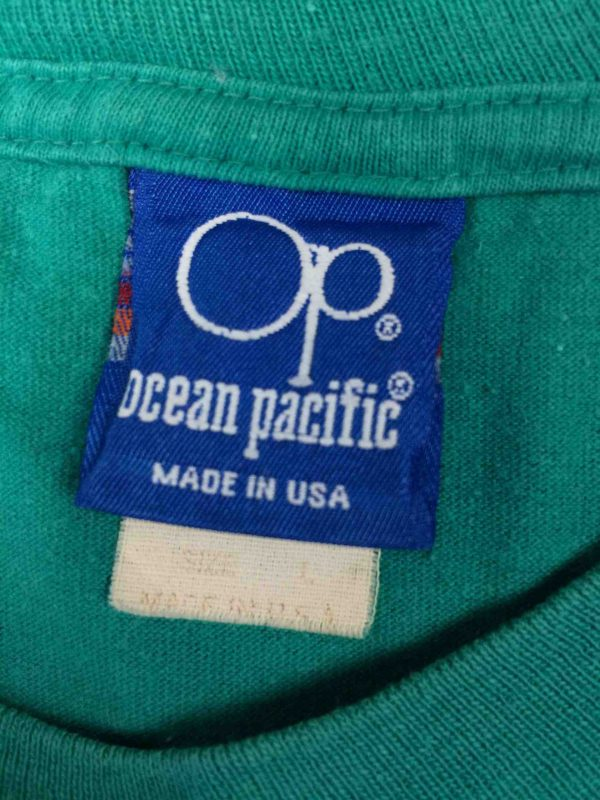 OCEAN PACIFIC T Shirt Vintage 80s Surf Check Gabba Vintage 5 scaled - OCEAN PACIFIC T-Shirt Vintage 80s Made in USA