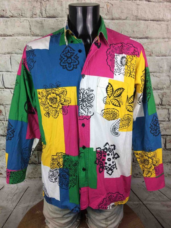 Chemise SOULEIADO, éditionPatchwork, Véritable vintage années 90s, Gardian Provence Camargue Sud Feria Shirt