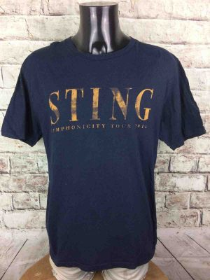 T-Shirt STING, édition Symphonicity Tour 2010, double face avec liste des dates, Official License, marque Earth Positive, Concert Rock