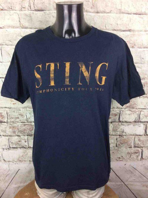 T-Shirt STING, édition Symphonicity Tour 2010, double face avec liste des dates, Official License, marque Earth Positive, Concert Rock