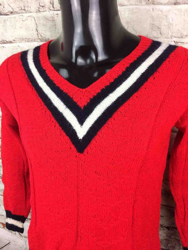 VINTAGE 80s Pullover Tricote Main V Unisex Gabba Vintage 3 scaled - VINTAGE 80s Pullover Tricoté Main V Unisex