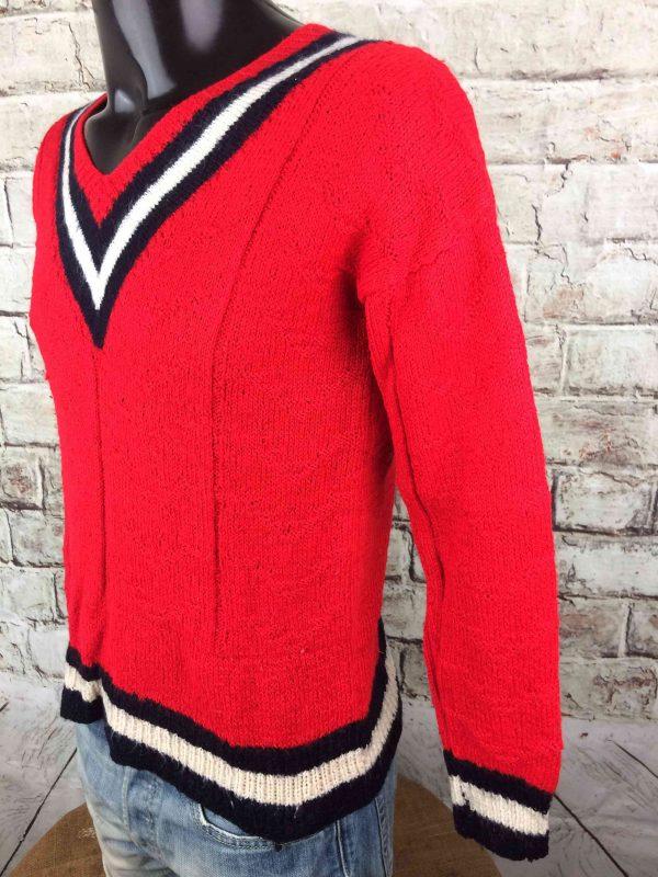 VINTAGE 80s Pullover Tricote Main V Unisex Gabba Vintage 4 scaled - VINTAGE 80s Pullover Tricoté Main V Unisex
