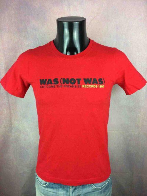 T-Shirt WAS NOT WAS, édition Out Come The Freaks Ze Records 1980 Exclusive Ze Official, marque Not Problem, rétro vintage, Concert