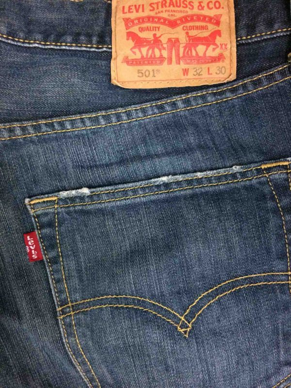 levi strauss 501 vintage w32 l30 dark blue 6 scaled - LEVI STRAUSS 501 Vintage W32 L30 Dark Blue 1
