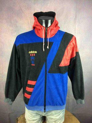 ADIDAS Jacket Hood Vintage 90s 3 Stripes - Gabba Vintage (2)