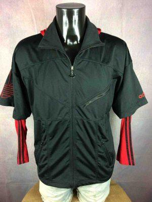 ADIDAS Jacket Hood Vintage 90s Big Trefoil - Gabba Vintage (1)