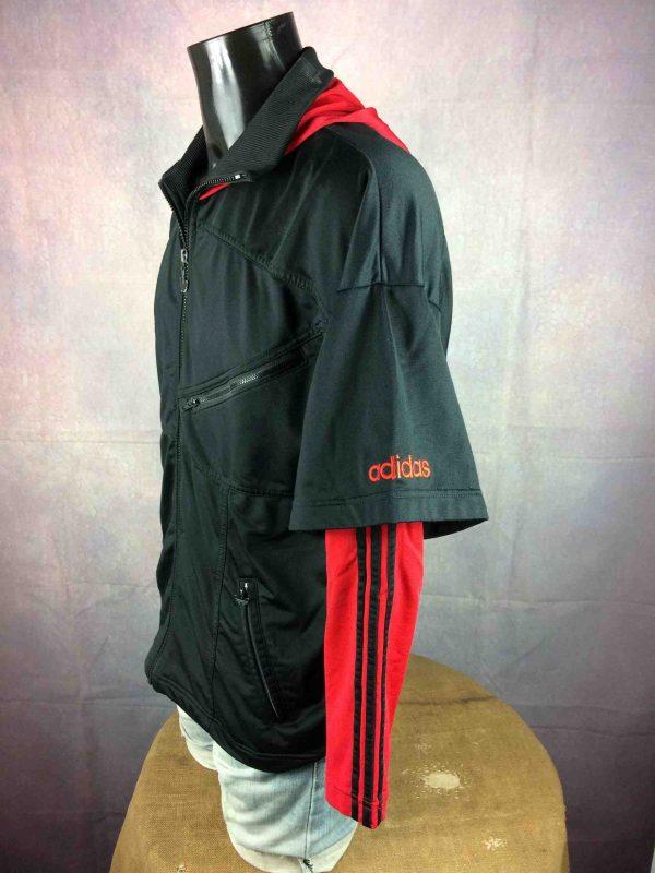ADIDAS Jacket Hood Vintage 90s Big Trefoil Gabba Vintage 3 1 scaled - ADIDAS Vintage Années 90s Veste Capuche Noir