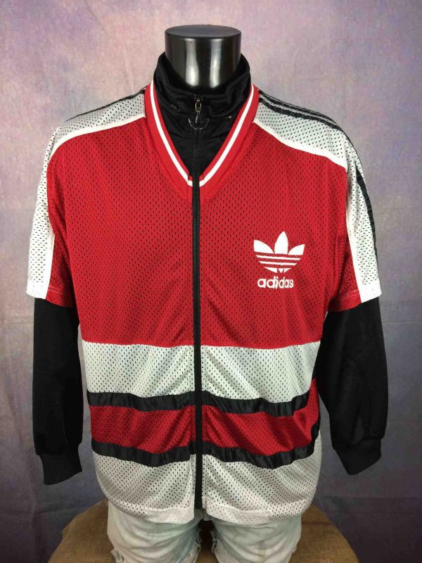 ADIDAS Jacket Short Sleeve Mesh Vintage 90s - Gabba Vintage (2)