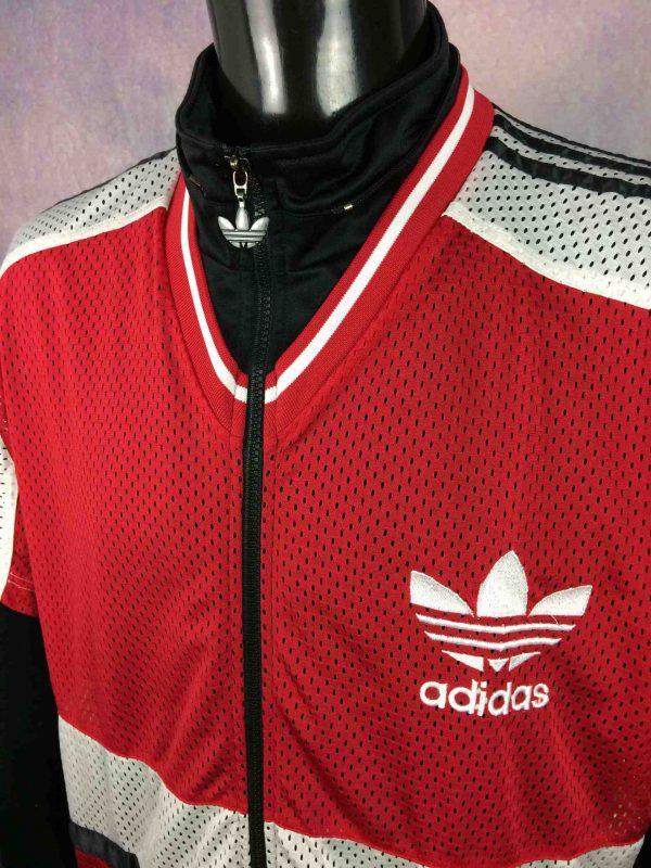 ADIDAS Jacket Short Sleeve Mesh Vintage 90s Gabba Vintage 3 scaled - ADIDAS Veste Mesh Vintage Années 90 Trefoil