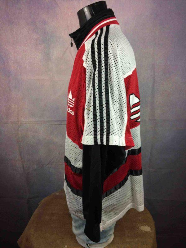 ADIDAS Jacket Short Sleeve Mesh Vintage 90s Gabba Vintage 5 scaled - ADIDAS Veste Mesh Vintage Années 90 Trefoil