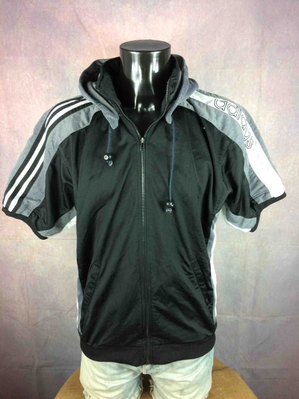 ADIDAS Jacket VTG 90s Trefoil Hood Warm Up Gabba Vintage 2 scaled - ADIDAS Veste VTG 90s Trefoil Hood Warm Up