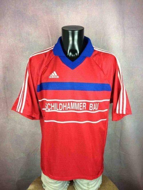Maillot ADIDAS, Véritable vintage années 00s, Style Bayern Munich, Made in UK, Porté en match N°15, Allemagne, Jersey Camiseta Trikot Football