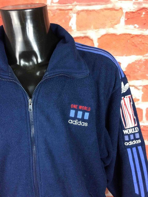 ADIDAS One World Veste Polartec VTG 90s XL Gabba Vintage 4 scaled - ADIDAS Veste Vintage 90s Polartec One World