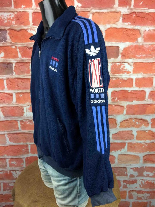ADIDAS One World Veste Polartec VTG 90s XL Gabba Vintage 5 scaled - ADIDAS Veste Vintage 90s Polartec One World