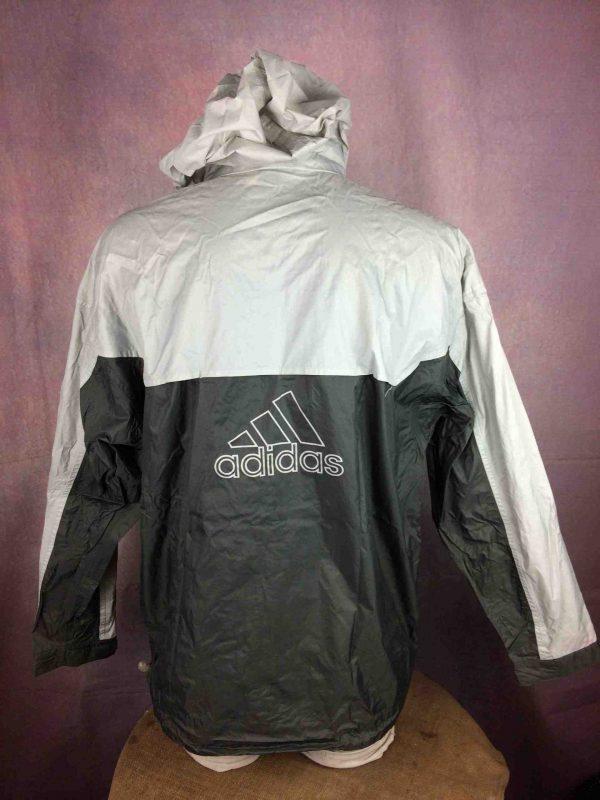 ADIDAS Rain Jacket Windproof Vintage 2001 Gabba Vintage 4 scaled - Veste Imperméable Adidas Vintage 2001 Sport
