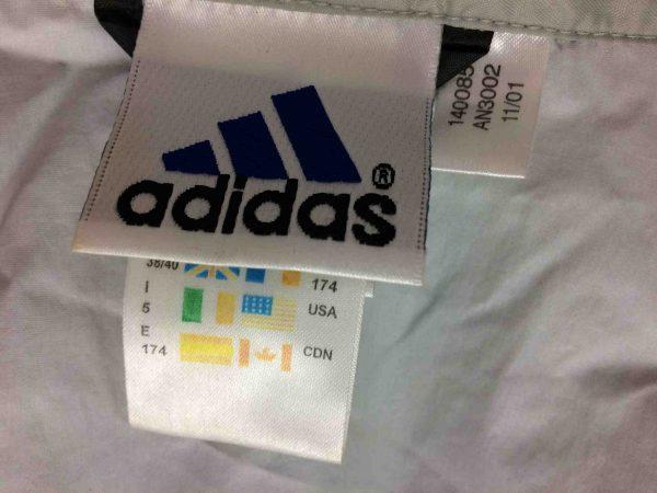 ADIDAS Rain Jacket Windproof Vintage 2001 Gabba Vintage 6 scaled - Veste Imperméable Adidas Vintage 2001 Sport