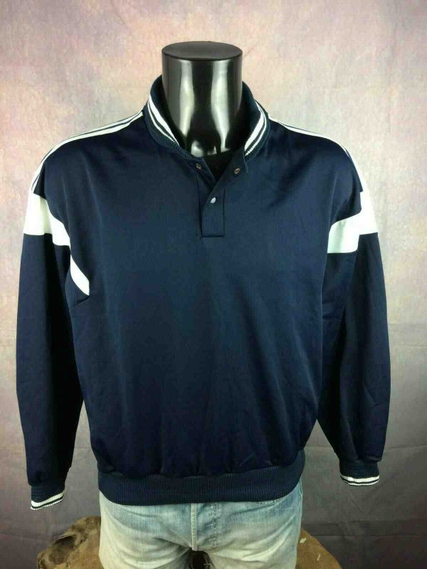 ADIDAS SweatShirt Vintage 80s Ventex Trefoil Gabba Vintage 1 - ADIDAS Sweat Vintage Année 80 Ventex Trefoil