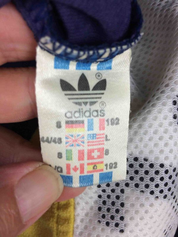 ADIDAS Team Veste VTG 90s Made in Tunisia Gabba Vintage 1 scaled - ADIDAS Team Veste Vintage 90s Big Trefoil