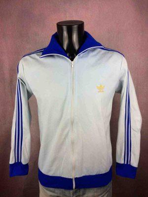 Veste ADIDAS Vintage Années 70s, Made in France, Production Ventex, Trefoilet trois bandes, Sport Unisexe