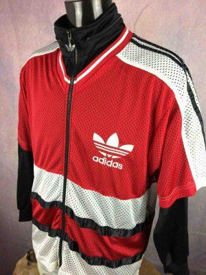 ADIDAS Veste Short Sleeve Mesh Vintage 90s L - Gabba Vintage (5)