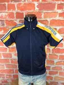 ADIDAS Veste Short Sleeves Vintage 90s Bleu Gabba Vintage 2 - ADIDAS Veste Vintage Années 90 Basketball