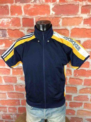 ADIDAS Veste Short Sleeves Vintage 90s Bleu - Gabba Vintage (2)