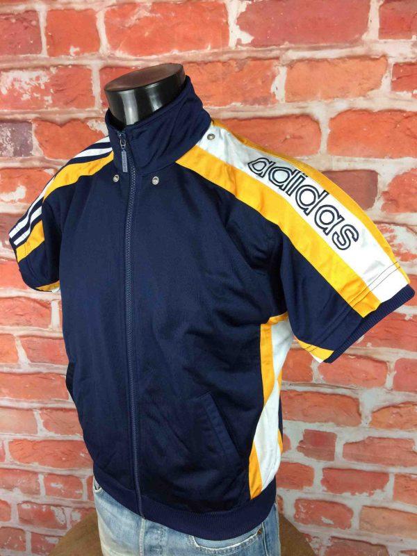 ADIDAS Veste Short Sleeves Vintage 90s Bleu Gabba Vintage 4 scaled - ADIDAS Veste Vintage Années 90 Basketball
