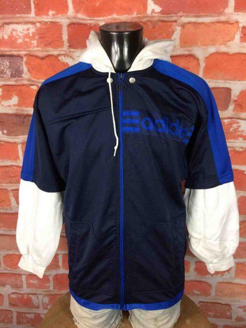 ADIDAS Veste Sweatshirt Hood Vintage 90s - Gabba Vintage (2)