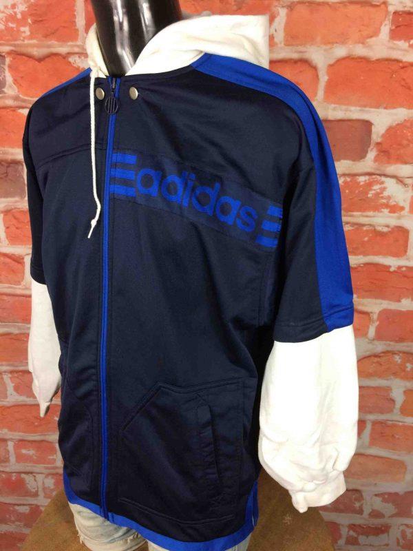 ADIDAS Veste Sweatshirt Hood Vintage 90s Gabba Vintage 3 scaled - ADIDAS Veste Vintage Années 90 Manches Sweat