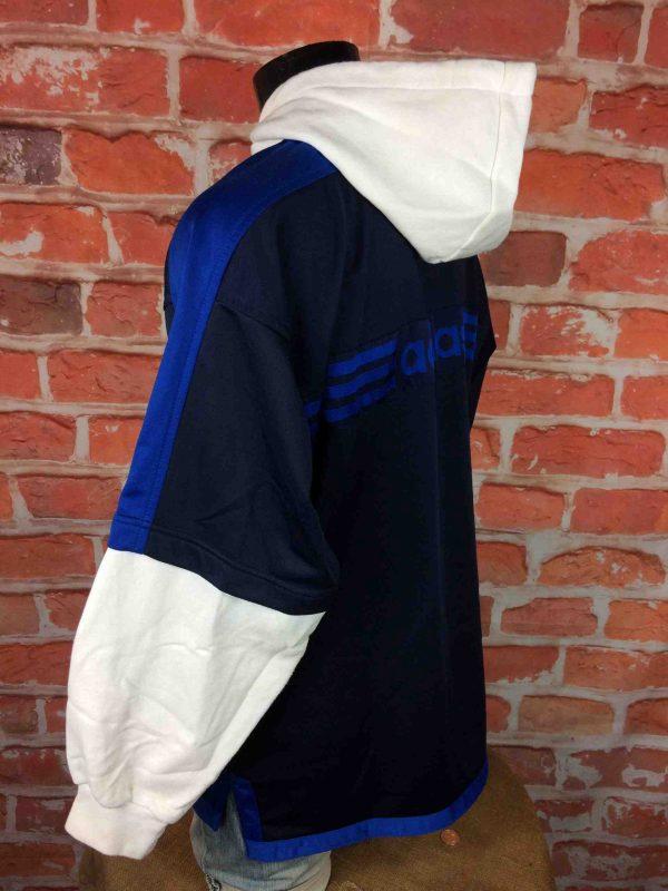 ADIDAS Veste Sweatshirt Hood Vintage 90s Gabba Vintage 5 scaled - ADIDAS Veste Vintage Années 90 Manches Sweat