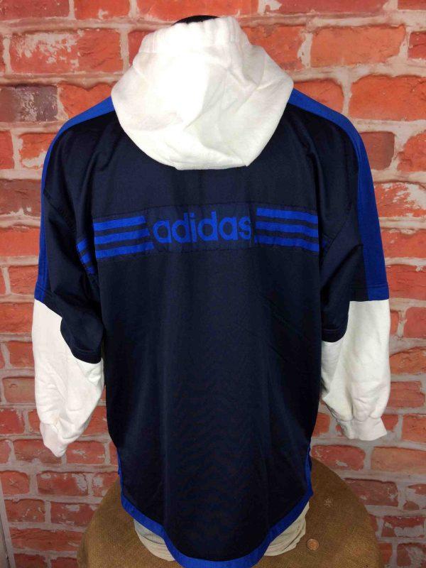 ADIDAS Veste Sweatshirt Hood Vintage 90s Gabba Vintage 6 scaled - ADIDAS Veste Vintage Années 90 Manches Sweat
