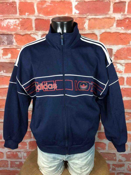 ADIDAS Veste Vintage 90s 3 Stripes Orange - Gabba Vintage (2)