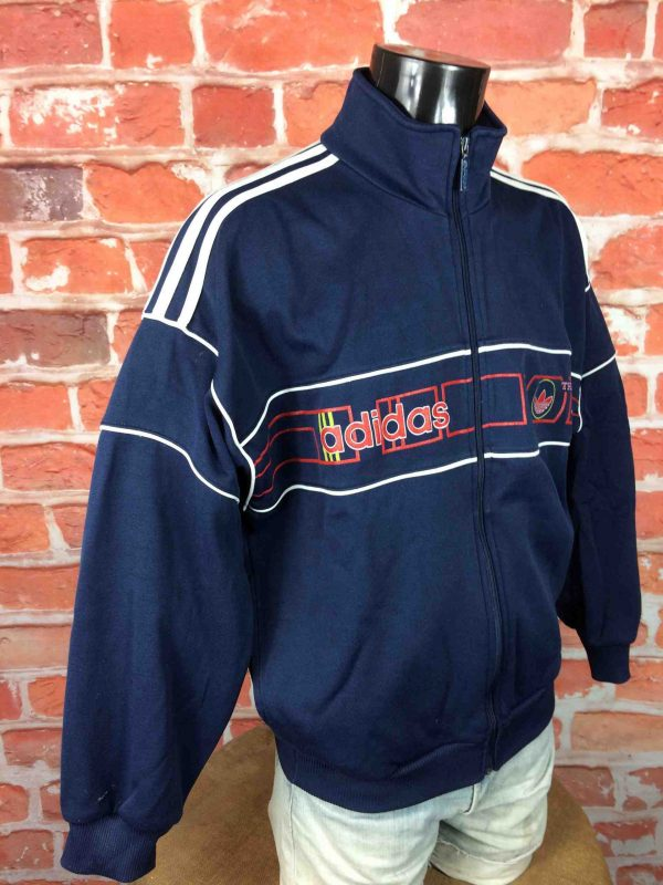 ADIDAS Veste Vintage 90s 3 Stripes Orange Gabba Vintage 3 scaled - ADIDAS Veste Vintage 90s 3 Stripes SC Orange