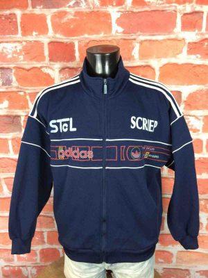 ADIDAS Veste Vintage 90s 3 Stripes Rugby - Gabba Vintage (2)