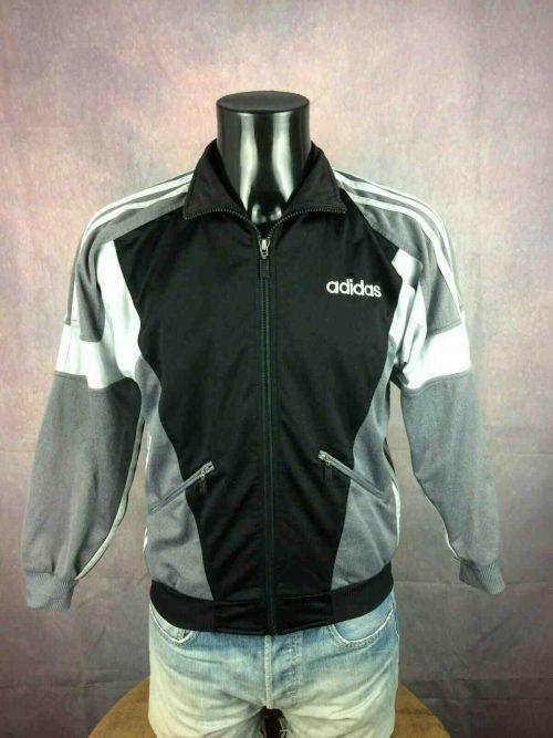 Veste Adidas, Véritable vintage Année 90s, Made in Thailand, Y2K Rave SportJogging Jacket Football Homme Unisex
