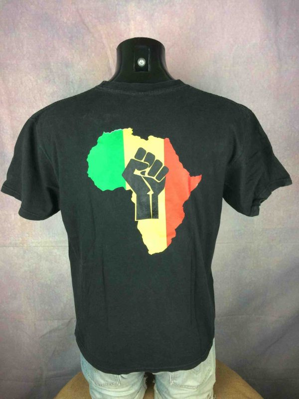 AFRICA T Shirt Rasta Reggae Power Fist Judah Gabba Vintage 1 scaled - AFRICA T-Shirt Rasta Reggae Double Sided
