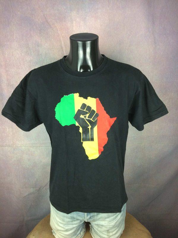 AFRICA T Shirt Rasta Reggae Power Fist Judah Gabba Vintage 2 scaled - AFRICA T-Shirt Rasta Reggae Double Sided