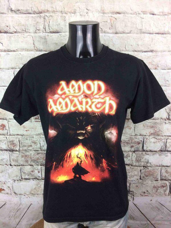 T-Shirt AMON AMARTH, édition The Last Stand Of Frej 2011, double face avec visuel différent au dos, marque Fruit Of The Loom, Viking Metal Black