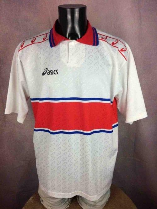 ASICS Jersey #5 Porté Worn Vintage 90s - Gabba Vintage