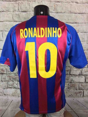 BARCELONA Jersey #10 Ronaldinho 2004 Replica - Gabba Vintage