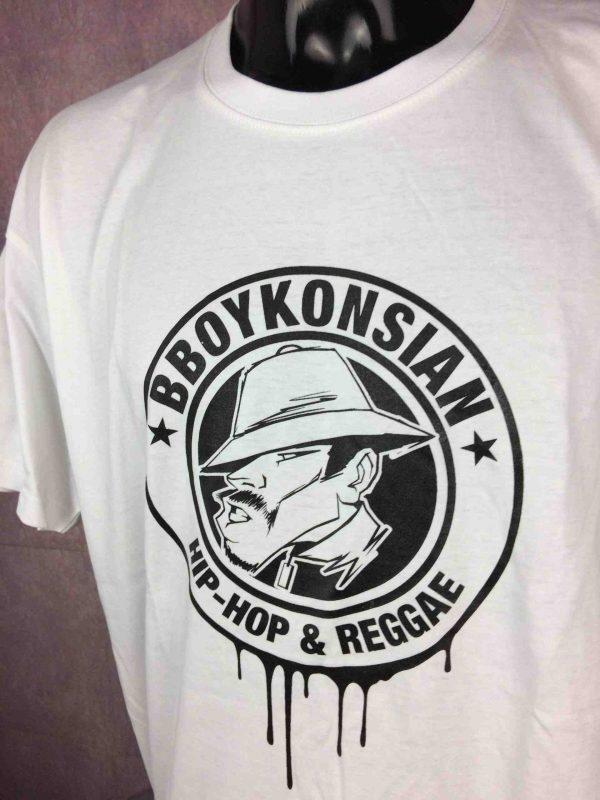T-Shirt BBOYKONSIAN, édition Hip Hop Reggae, double face avec logo au dos, marque Superior, Hardcore Street France Alternatif Sound Rap Concert