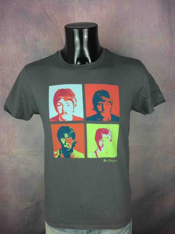 BEN SHERMAN T Shirt The Beatles Warhol 2010 Gabba Vintage 3 scaled - THE BEATLES T-Shirt Ben Sherman Warhol 2010