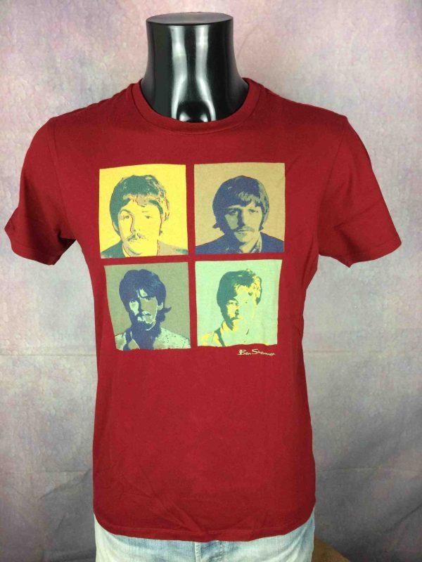 BEN SHERMAN T Shirt The Beatles Warhol Red Gabba Vintage 1 scaled - THE BEATLES T-Shirt Ben Sherman 2010 Warhol