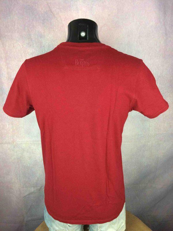 BEN SHERMAN T Shirt The Beatles Warhol Red Gabba Vintage 4 scaled - THE BEATLES T-Shirt Ben Sherman 2010 Warhol