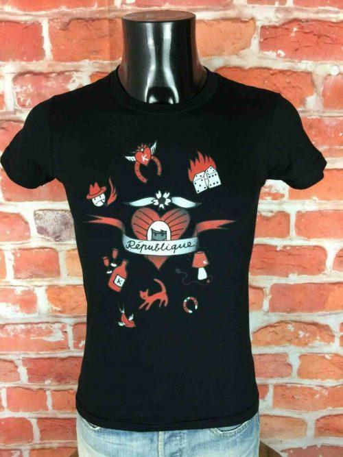 T-Shirt BEWOL, édition Republique, Concert K Electro Wear Vinyl Berlin Minimal Record K7 Tape