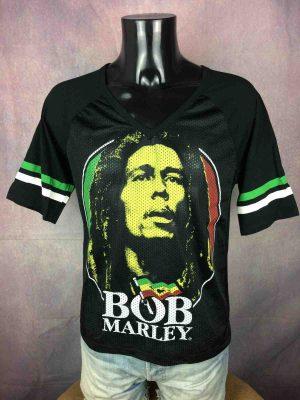 T-Shirt BOB MARLEY, mariage de coton et de mesh, Official License, marqueZion Rootswear, Année 2014, Maillot Wailers Rasta Reggae Jah