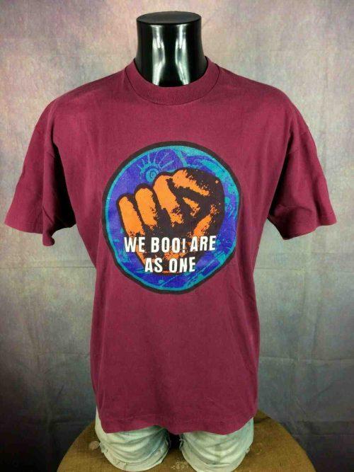 T-Shirt BOO RADLEYS, édition We Boo Are As One, double face avec visuel différent au dos, marque Screen Stars, Made in Ireland, Véritable vintage années 90, Concert Rock Shoegaze Rare
