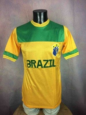 BRAZIL Maillot Vintage Années 80 CBF Replica - Gabba Vintage