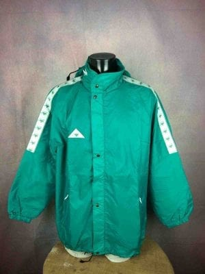 Veste Imperméable Vintage CALANNI, Années 90s, Made in Italy, Nylon, Waterproof, Windproof, Capuche, K-Way Unisex